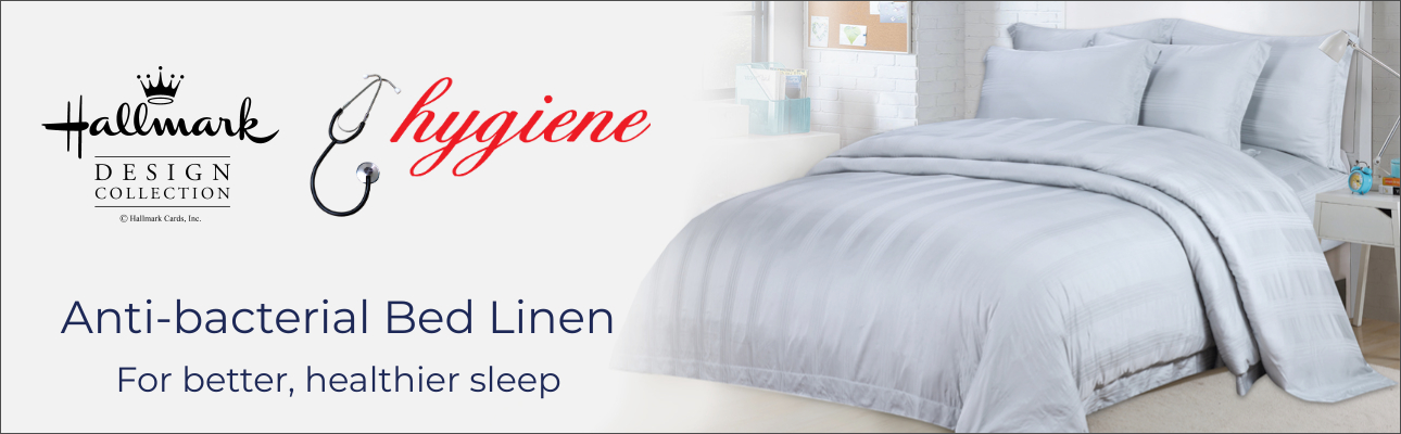 Hallmark Anti-bacterial Bed Linen. For a healthier, better sleep.