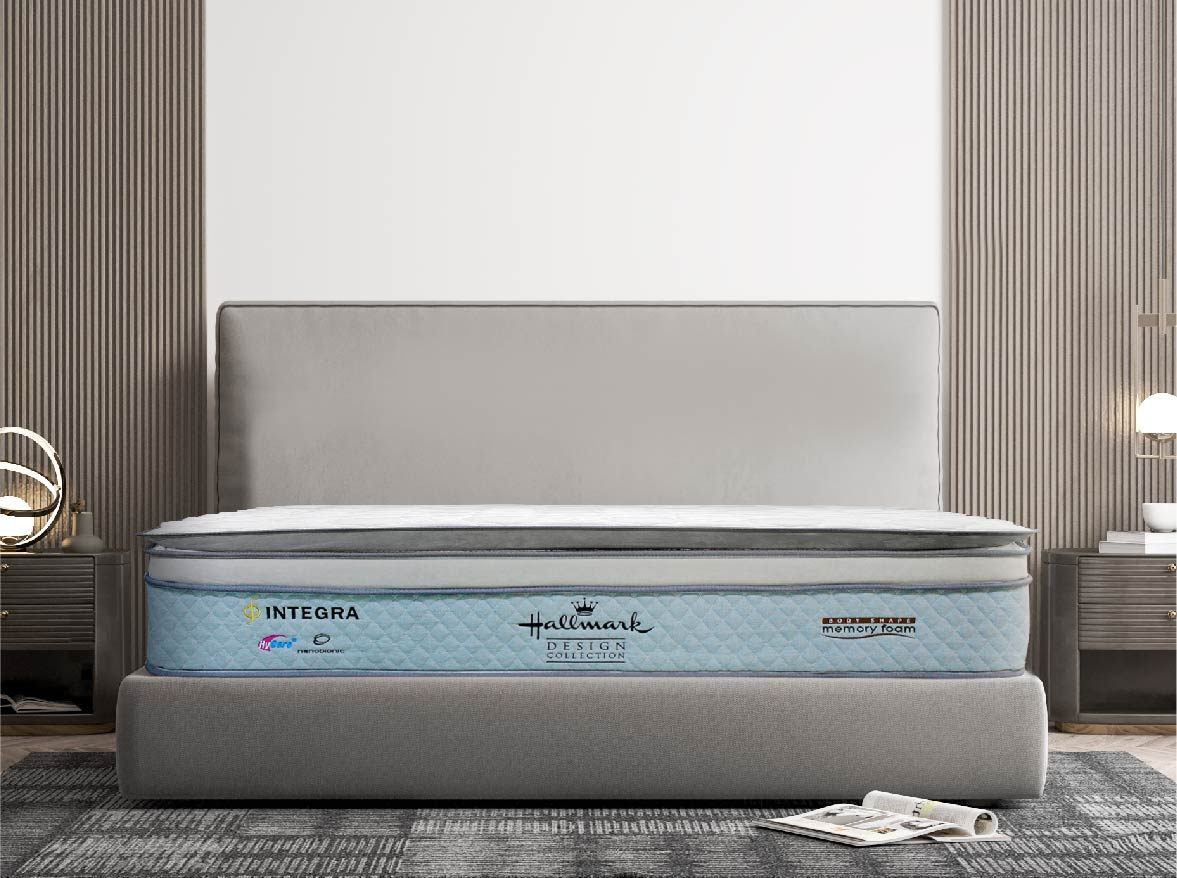 Hallmark Integra Mattress features Independent pocket spring coils system supports the pliant base