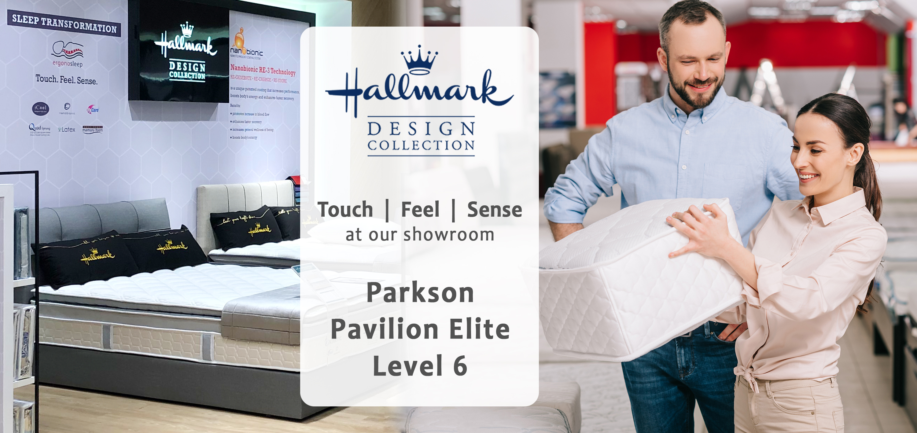Visit Hallmark Mattress Showroom at Parkson Pavilion Elite level 6