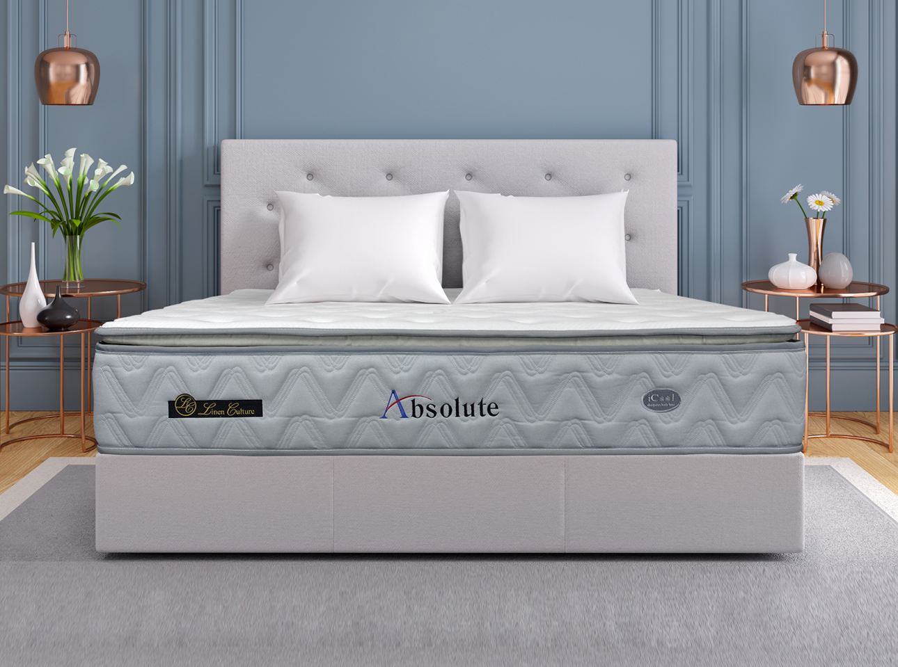 Absolute mattress features bonnel spring for a more relaxed support configuration