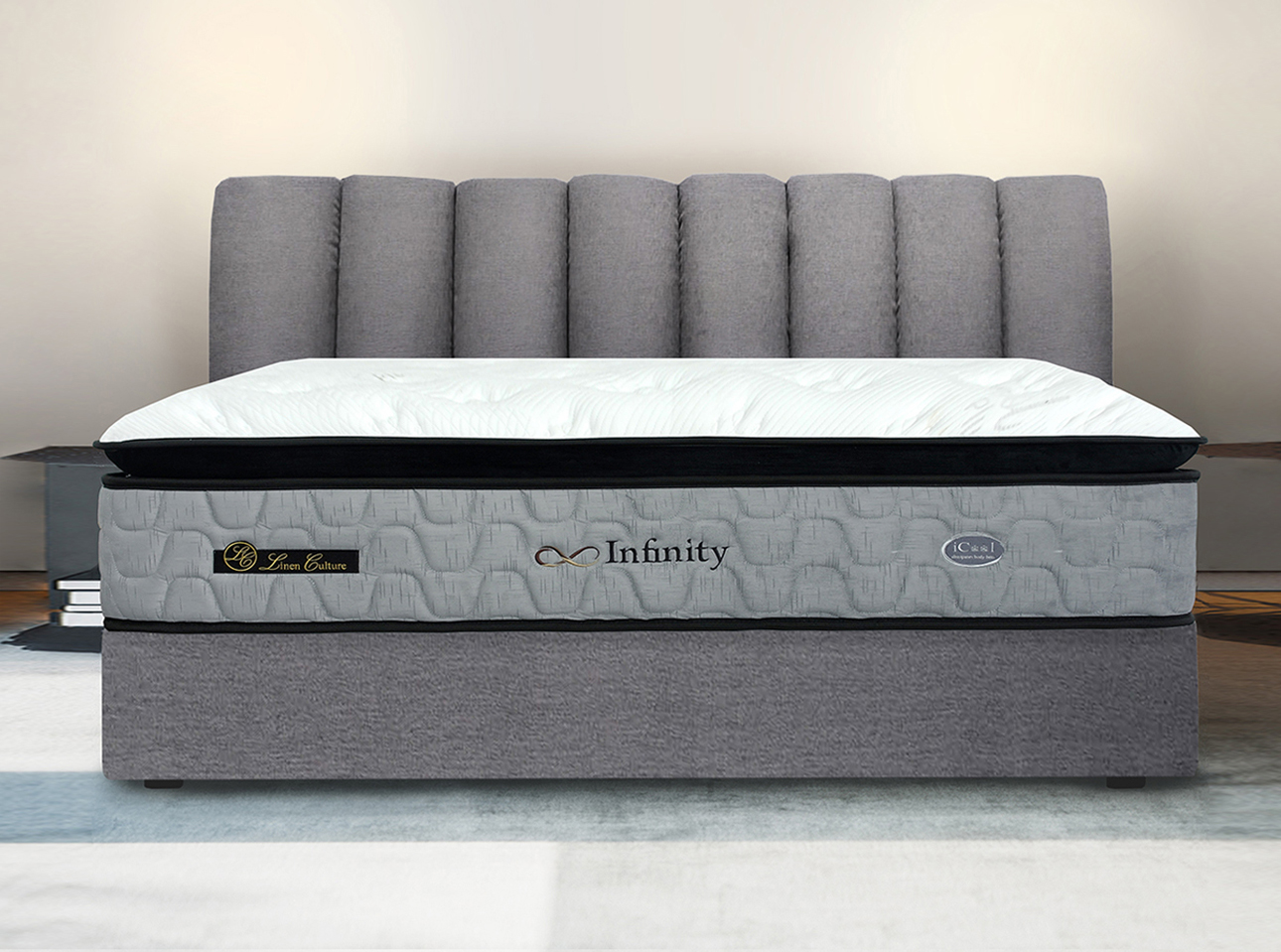 Infinity Mattress features a durable, long-lasting pocket spring support